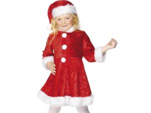 Girls Mrs Santa Claus Christmas Dress Kids Costume