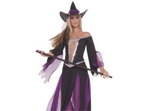 Womens Black Purple Ballroom Dancing Witch Costume