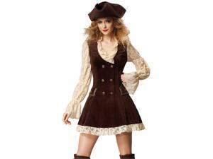 Sexy Colonial Lace Pirate Wench Adult Halloween Costume