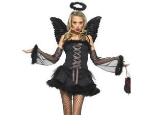 Sexy Adult Womens Gothic Dark Angel Halloween Costume