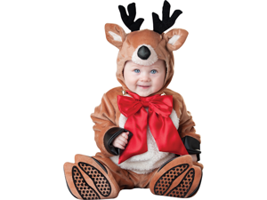 Baby Reindeer Bodysuit Infant Rudolf Christmas Costume Medium