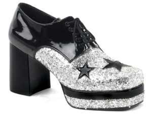 70s Kiss Disco Mens Platform Costume Shoes