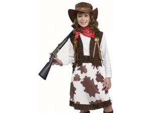Kids Cowgirl Annie Oakley Western Halloween Costume