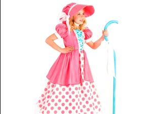 Kids Girls Pink Little Bo Peep Shepherd Halloween Costume