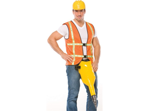Construction Worker Man Funny Raunchy Party Costume