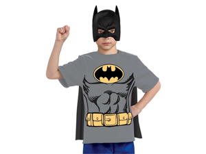 Kids Boys Batman Halloween Costume Tee Shirt Mask & Cape