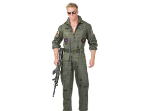 Top Gun Air Force Army Soldier Flight Suit Costume