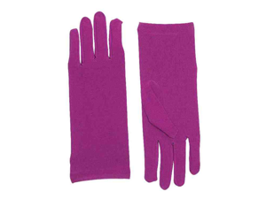 Womens Short Purple Wrist Length Costume Dress Gloves