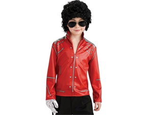 Michael Jackson Kid Costume Beat It Red Zipper Jacket