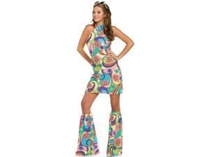 Retro Go-Go Sexy 60s 70s Girl Adult Halloween Costume