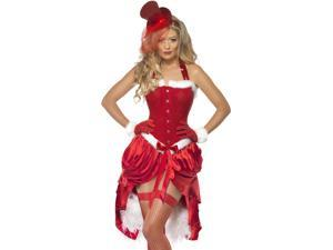 Sexy Burlesque Mrs Santa Claus Adult Christmas Costume
