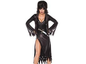 Sexy Womens Gothic Vampire Elvira Black Widow Halloween Costume