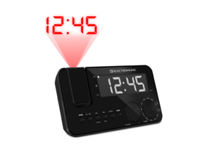 "Electrohome EAAC500US Projection Clock Radio w/ WakeUp! Battery Backup Alarm, Jumbo 1.2"" LED Display"