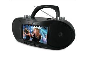 Magnasonic Portable CD DVD Player Boombox 7 inch Widescreen LCD Radio MP3 WMA MPEG4 Playback