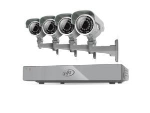SVAT 4CH Smart Security DVR 4 Ultra Hi-Res Outdoor 100ft Night Cameras 500GB HDD & Smartphone Compatibility - 11021