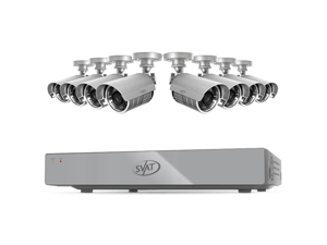 SVAT 16CH H.264 500GB Smart Security DVR w/ 8 Hi-res Outdoor Surveillance Cameras and Smart Phone Compatibility (11044)