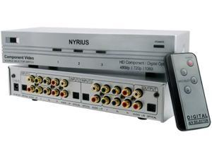 Nyrius HD Component Video YPbPr & Digital Audio Optical Toslink 3 Input Selector Switch with Remote