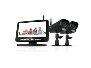 "DefenderDigital Wireless DVR Security System with 7"" LCD Monitor, SD Card Recording and 2 Cameras"