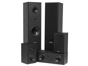 Fluance AVHTB Surround Sound Home Theater 5.0 Ch Speaker System including Floorstanding Towers, Center and Rear Speakers