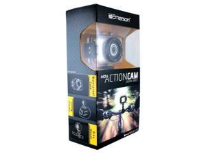 Emerson Go Action Cam 720p HD Digital Video Camera Pro Grade 5 mp Video With Screen- White