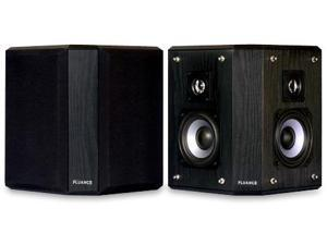 Fluance AVBP2 Wood Bipolar Surround Sound Satellite Speakers Black Ash Finish