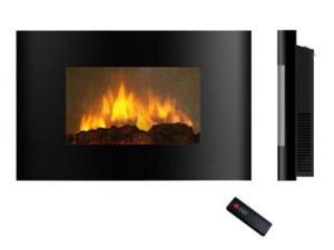 Akdy 520AL Wall Mounted Electric Fireplace Control Remote Heater Firebox Black