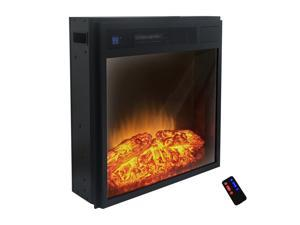 "Akdy 23"" Black Electric Firebox Fireplace Insert Azfl-23r"