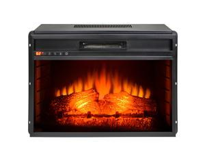 "AKDY 33"" Freestanding Insert 3D Flame 22 Setting Level Electric Fireplace Heater Stove"