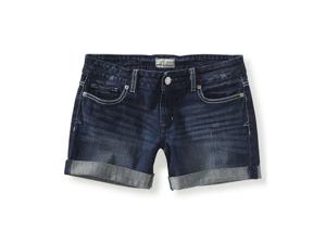 Aeropostale womens dark wash boyfriend denim shorts - 189 - 00