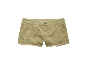 Aeropostale women's short khaki frayed shorts - 0
