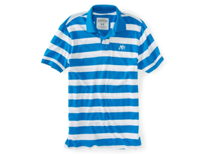 Aeropostale mens striped A87 soft polo shirt - 416 - XS