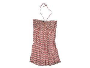Ecko Unltd. Womens Printed Rayon Halter Sundress coral L