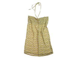 Ecko Unltd. Womens Printed Rayon Halter Sundress mustardyl M