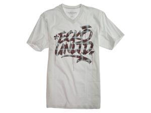 Ecko Unltd. Mens Fat Plaid Graphic T-Shirt blchwhite S