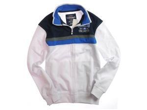 Ecko Unltd. Mens Double Chest Stripe Track Jacket Sweatshirt blchwhite S
