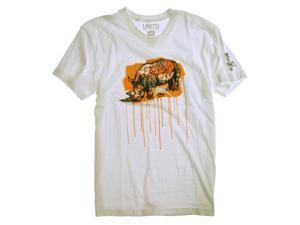 Ecko Unltd. Mens The Exhibit Save Cope Graphic T-Shirt blchwhite 2XL