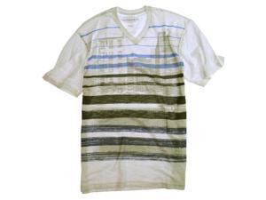 Ecko Unltd. Mens Stripe Life Slub Graphic T-Shirt blchwhite 2XL
