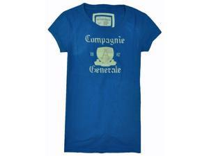 Aeropostale Womens Campagnie Graphic T-Shirt seablue L