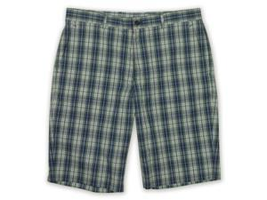 Michael Kors Mens Plaid Casual Walking Shorts ink 34