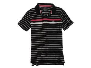 Ecko Unltd. Mens Striped Rugby Polo Shirt black XS
