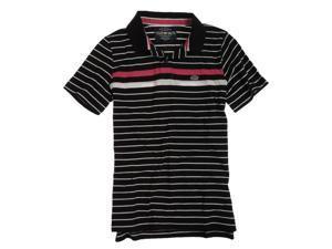 Ecko Unltd. Mens Striped Rugby Polo Shirt black S