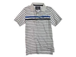 Ecko Unltd. Mens Striped Rugby Polo Shirt blchwhite M