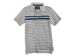 Ecko Unltd. Mens Striped Rugby Polo Shirt blchwhite XS