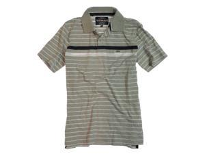 Ecko Unltd. Mens Striped Rugby Polo Shirt greyheath S