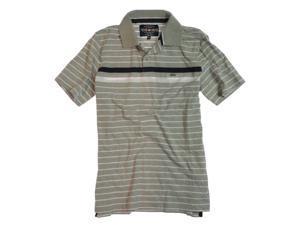 Ecko Unltd. Mens Striped Rugby Polo Shirt greyheath S