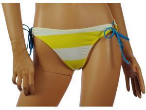 Aeropostale Womens wide striped back print swim bottoms - Neon Yellow - M