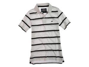 Ecko Unltd. Mens Clean Stripe Jersey Rugby Polo Shirt blchwhite XS