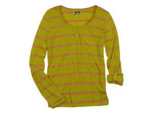 Roxy Juniors Ls Convertible Stripe Henley Shirt 108wildlimef S