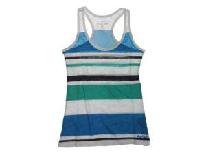 Ecko Unltd. Womens Multi Stripe Boy Racerback Tank Top white M
