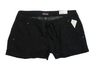 Ecko Unltd. Juniors Linen Blend Casual Walking Shorts black 3/4